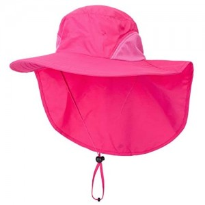 Decentron Outdoor Large Brim Fishing Hat with Neck Cover UPF 50+ Mesh Sun Hats