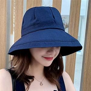 YULINGSTYLE Sun Hats Women Wide Brim Fisherman Hats Summer Female Outdoor Travel Foldable Bucket Anti-Uv Beach Cap