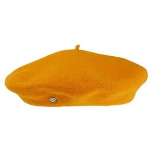 Héritage par Laulhère Hats Authentique Merino Wool Beret - Mustard