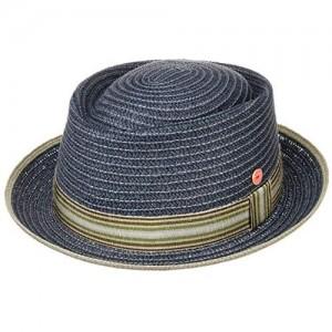 Mayser Andy Pork Pie Straw Hat Men - Made in The EU Porkpie Sun Beach with Grosgrain Band Band Spring-Summer