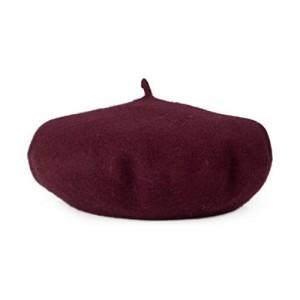 "Opromo 100% Wool French Beret Women Ladies Art Basque Hat 11"" in Diameter"