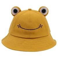 Tuopuda Cute Frog Bucket Hat for Women Men Cotton Sun Hat Summer Outdoor Foldable Fisherman Hat Boys Girls Teens