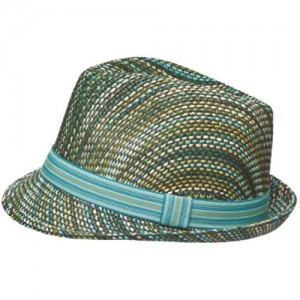 i-Smalls Women's Colourful Straw Trilby Hat with Band Trim